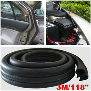 3M Car Accessories Door Seal Strip Rubber Trunk Hood EPDM Edge Insulation Trim