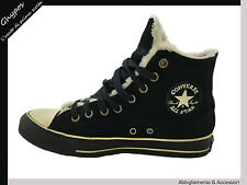 SCARPE CONVERSE INVERNALI ALL STAR CHUCK TAYLOR SHOES TG-SZ 7/40 NERO/BLACK S40