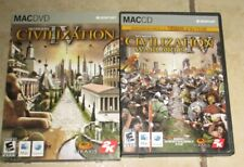 Civilization IV+ Warlords Mac PC Games DVD CD Complete Disc Manual