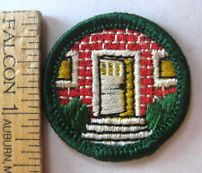 Rare Vintage Girl Scout 1955-1963 HOMEMAKER BADGE House Front Door Home Patch
