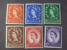 Great Britain # 317c-322d-Mint Never/Hinged-Complete Set-Graphite-1957-59