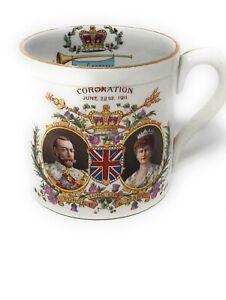 Vintage Shelley Late Foley Crested George V Coronation Souvenir Mug 1911.