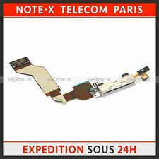 Charging Port Dock Connector Flex Cable For iPhone 4S white
