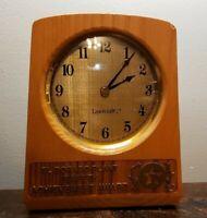 TEXACO Lasercraft Desk Clock, El Dorado Plant Safety Achievement Award.  Works