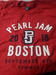 PEARL JAM SETLIST T SHIRT NIGHT XXL FENWAY PARK BOSTON RED SOX 9/4/2018 New 2XL