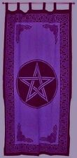 Curtain Pentacle Purple and Black Pagan Wiccan Wall Hanging Home Decor #CT24PL