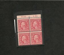 us sc#540 f/vf og lh great looking 2C washington top plate block of 4X&S30