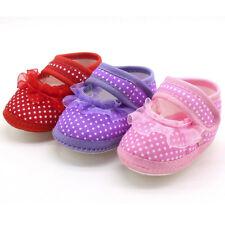 Newborn Infant Baby Dot Lace Girls Soft Sole Prewalker Warm Casual Flats Shoes