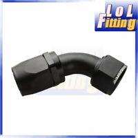 -20 AN 20AN 20AN 45 Degree Swivel Hose End Fitting Adaptor Aluminum Black
