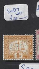 HONG KONG    (PP0110B)  POSTAGE DUE 4C  SG D7    VFU