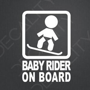 Baby Rider On Board Sticker Decal JDM Custom Racing Drift