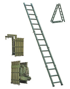 Portable Folding Tactical Assault Ladder Bulletproof Kevlar Reinforced 3.5m 11ft