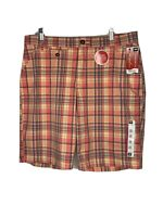 Women's LEE  Plaid Bermuda Shorts Comfort Fit Mid Rise Relaxed Fit Size 14 M NWT