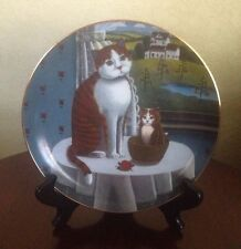 Steven Klein Eyes Of The Season 1980 Lynell Studios Spring Cat Collector Plate