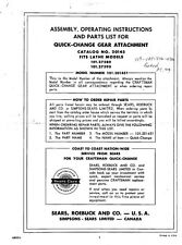 "Craftsman 101.201451 /Atlas 12"" Lathe Quick Change Gearbox Attachment"
