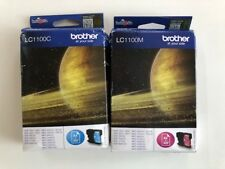 2er Set original Brother Tintenpatrone »LC1100« cyan + magenta