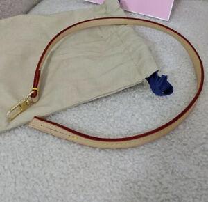 AU STK Handmade Vachetta leather Strap For Louis Vuitton Pochette Accessories NM
