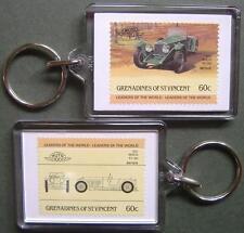 1931 INVICTA 4.5L Car Stamp Keyring (Auto 100 Automobile)