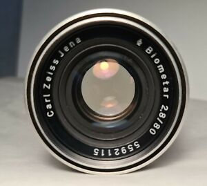 Vintage Carl Zeiss Jena BIOMETAR Lens f/2.8 80mm