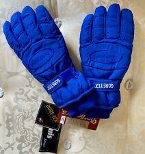 HotFingers Ski Gloves Blue, Gortex with Dupont Hollofil, Size Mens Large