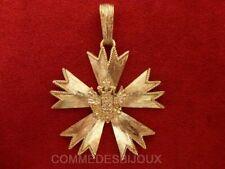"""Pendentif """"Croix Décoration"""" doré Symbole Profession Foi - Bijoux Vintage Sphinx"""