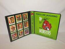 Custom Made You'll Die Laughing Funny Monsters Trading Card Album Binder