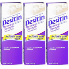3 Pack Desitin Diaper Rash Maximum Strength Original Paste 4 oz tube Exp 09/2017