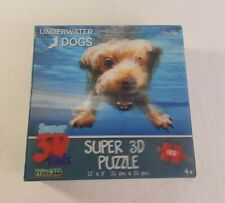 Super 3D Jigsaw Puzzle Underwater Dogs 63 Piece Puzzle Crown and Andrews Prime3D