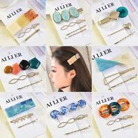 Korean Style Women 3Pcs Acrylic Hair Clip Hairband Comb Bobby Barrette Hairpin
