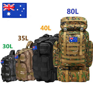 30L/40L/80L Military Tactical Rucksack Backpack Hiking Camping Outdoor Trekk Bag