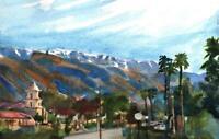 Ojai California  :  Signed LE Art Print : Sandra Watercolors™ California