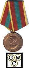 Russia 1945 Stalin Portrait Medal Valiant Labor in Great Patriotic War (12182)