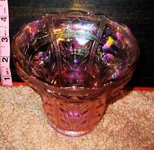 Vintage Lenox Pink Carnival Glass Bowl / Dish / Candy Bowl / Pot