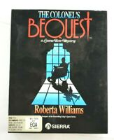 """The Colonel's Bequest Computer Game 3.5"""" Disks MS DOS PC Complete VTG Mystery"""