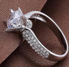 1.80 ct 14k white gold over round engagement d vvs1 diamond women's wedding ring