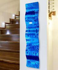 Metal Wall Art - Abstract ELECTRIC BLUE WAVE Indoor/Outdoor SCULPTURE Jon Allen