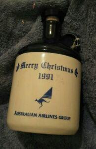 OLD! 1991 CHRISTMAS AUSTRALIAN AIRLINE PLANE TAWNY PORT CERAMIC LARGE EMPTY JUG!