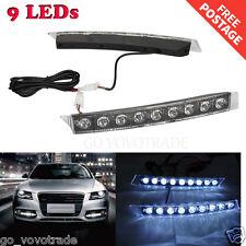 2PCs High Power for Audi style 9 LED DRL Daytime Running Car Light Fog Lamp Kit