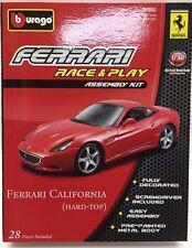 Bburago - 18-45200 - Asembly Kit Ferrari California (Hard Top) Scale 1:32 - Red