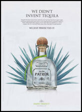 Patron Tequila print ad 2018 agave plant and bottle