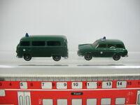 AA988-0,5# 2 Stück WIKING H0/ 1:87 Polizei Modelle VW 1600 + Bus T2