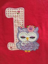 First Birthday 1st One Age Birthday Owl Gift Shirt Size 1