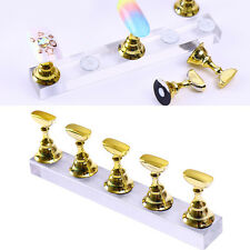 Nail Art False Nail Practice Display Tip Holder Magnetic Stand Manicure Tools
