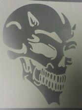 Devil Skull - Silver std - Car Van Window Vinyl graphics sticker Decal tribal