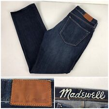 Madewell 30 X 30 Jeans Rail Straight Cotton Spandex Blend