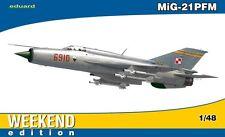 MiG 21 PFM FISHBED F W/MONSUN LAUNCHERS (POLISH AF MKGS) 1/48 EDUARD WEEKEND