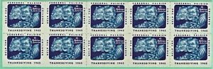 Canada Full Sheet of 10 Seals from the Cerebral Palsy Committee.  1965. MNH