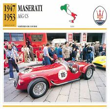 Maserati A6G CS 6 Cyl. Course 1947-1953 Italie CAR VOITURE CARTE CARD FICHE