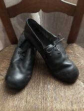 Nutsa Modebadze Black Leather Lace-Up shoes EU 40/ US 9 New
