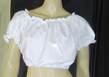 Dirndl pulli pullover blouse white adult neu L pvc plastic NEU Diargh
